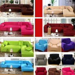 1/2/3/4 Seat L Shape Couch Stretch Fabric Sofa Cover Slipcov
