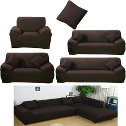 1/2/3/4 Seat L Shape Stretch Sofa Covers Couch Slipcover Fab