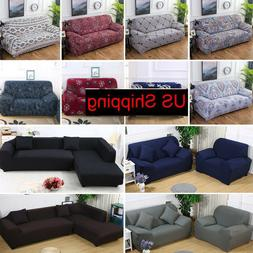 1/2/3/4 Seat/L-shape Stretch Sofa Cover Chair/Couch Cover Pr