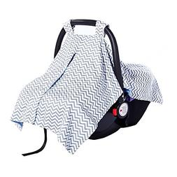 2 in 1 Carseat Canopy Cover and Nursing Cover Up - Universal
