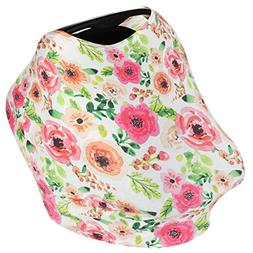 4-In-1 Infant Nursing Breastfeeding Cover for Baby Girls  -