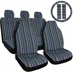 Copap 10pc Multi-Color Baja Saddle Blanket Car Seat Covers w
