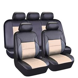 CAR PASS 11 Pieces Leather Universal Car Seat Covers Set - B