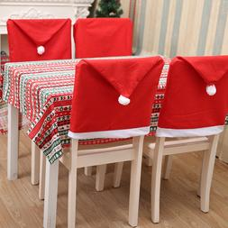 12 pcs/lot Red Non-woven Christmas Chair <font><b>Cover</b><