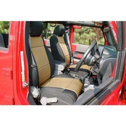 Rugged Ridge 13215. 04 Neoprene Front Seat Covers, Black And