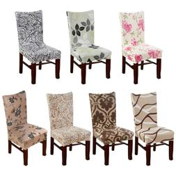 2/4/6/8pcs Spandex Stretch Dining Chair Seat Printed Covers