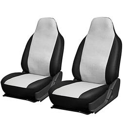 OxGord 2pc Integrated Leatherette Bucket Seat Covers, Univer