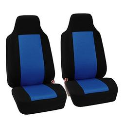 FH-FB102102 Classic Cloth Car Pair Set Seat Covers Blue/Blac