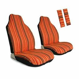 4pc universal stripe colorful front seat cover