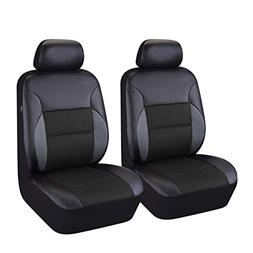 CAR PASS 6 Pieces Universal Two Front Leather Car Seat Cover