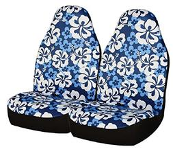 Allison 67-0346BLU Blue Hawaiian Print Universal Bucket Seat