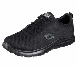 Skechers Black shoes Work Men Comfort Mesh Slip Resistant Me