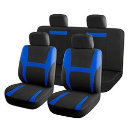 uxcell 8 piece New Car Seat Covers Full Set Blue Black for A
