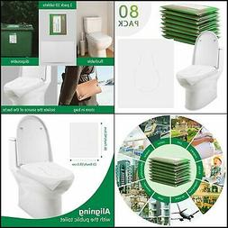 80 ToiletSeatCoversDisposable For Adults & Kids,Travel