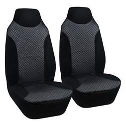 AULLY PARK Universal Fit Leatherette Bucket Seat Covers, Bla