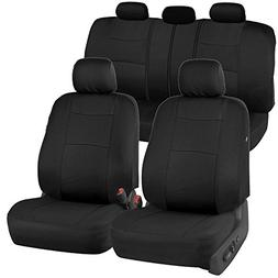 BDK PolyCloth Black Car Seat Covers - EasyWrap Interior Prot