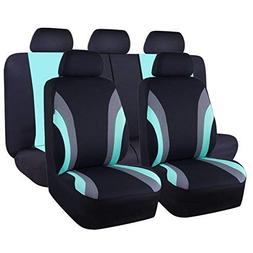 CAR PASS Line Rider 11PCS Universal Fit Car Seat Cover -100%