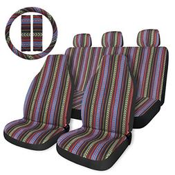 Copap Multi-Color Baja Saddle Blanket Car Seat Cover 10pc Un