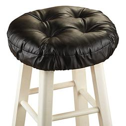 Collections Etc Foam-Padded Thick Waterproof Barstool Seat C