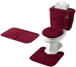 Miles Kimball Burgundy 5 Piece Bath Set