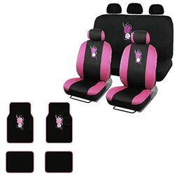 A set of 15 Piece Automotive Gift Set: 2 Lowback Seat Covers