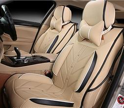 Amooca Beige FULL SET Universal Fit 5 Seats Car 3d Surrounde
