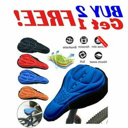 Bike 3D Gel Saddle Seat Cover Bicycle Silicone Soft Comfort