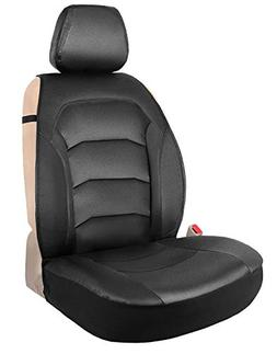 Black One Leather Seat Cover Universal Sideless Cushion for