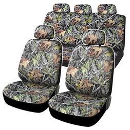 camo car seat covers full 9 piece