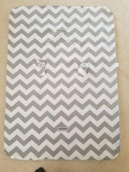 Car Seat Canopy Cover gender nuetral gray white chevron mink