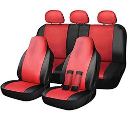 OxGord Car Seat Cover - PU Leather Two Toned Front Low Bucke