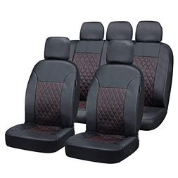 Big Ant Car Seat Covers,5 Detachable Headrests Full Set Fron