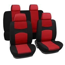 uxcell Car Seat Covers Red Black Full Set for Auto w/ 4 Head