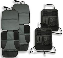 Car Seat Protector and Kick Mat Car Seat Cover  Thickest Pad