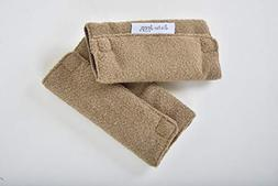 Jeep Car Seat Strap Covers 2 Pack, Plush Brown