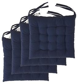 "Cottone 100% Cotton Chair Pads w/ Ties  | 16"" x 16"" Squa"