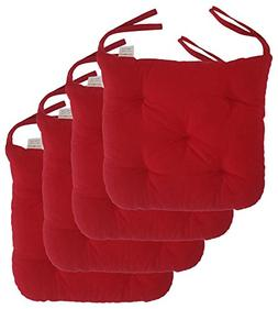 "Cottone 100% Cotton Chair Pads w/ Ties  | 16"" x 15"" Roun"