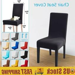 Chair Seat Cover Spandex Stretch Dining Room Washable Seats