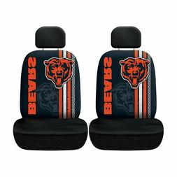 Chicago Bears Set of 2 Rally Print Seat Covers