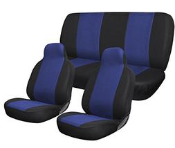 OxGord Complete Car Seat Cover Set, Blue & Black