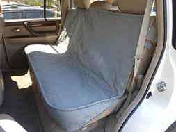 Deluxe Quilted and Padded Back Seat Bench cover with Non-Sli