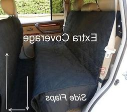 Deluxe Quilted and Padded Dog Car Back Seat Cover with Non-S