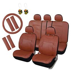 Leader Accessories Diamond II Faux Leather Car Seat Covers 1