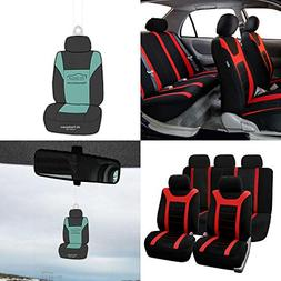 FH Group FB070115 Full Set Sports Fabric Car Seat Covers, Ai
