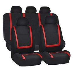 FH Group FH-FB032115 Unique Flat Cloth Seat Cover w. 5 Detac