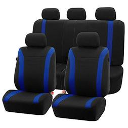 FH Group FH-FB054115 Blue Cosmopolitan Flat Cloth Seat Cover