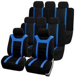 FH GROUP FH-FB070128 Three Row Set Sports Fabric Car Seat Co