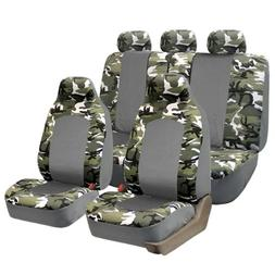 FH GROUP FH-FB108115 Full Set Camouflage Car Seat Covers, Ai
