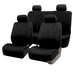FH GROUP FH-PU009114 Rome PU Leather Seat Covers, Full Set,