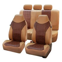 FH Group FH-PU160115 PU Textured High Back Leather Seat Cove
